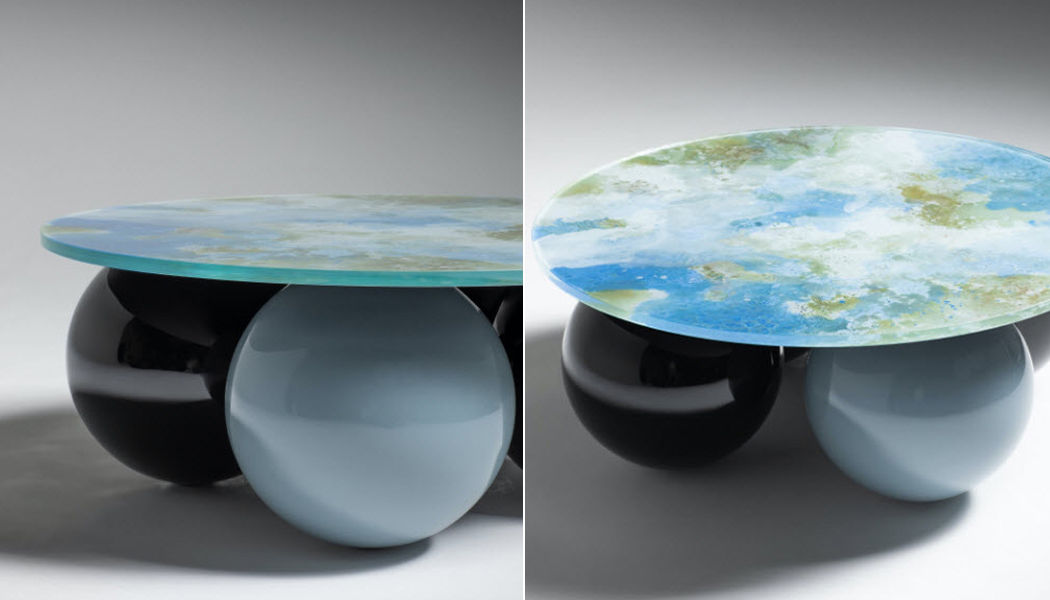 LE BERRE VEVAUD Table basse ronde Tables basses Tables & divers  |