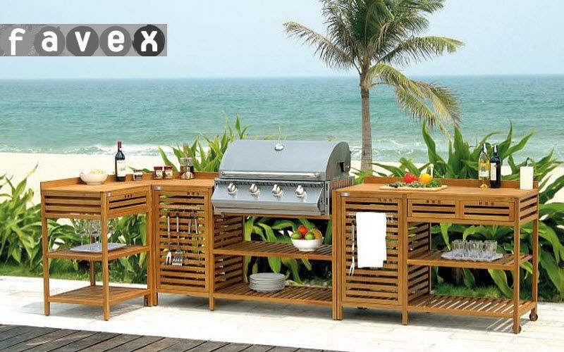 Favex Cuisine d'extérieur Cuisines complètes Cuisine Equipement Terrasse | Design Contemporain