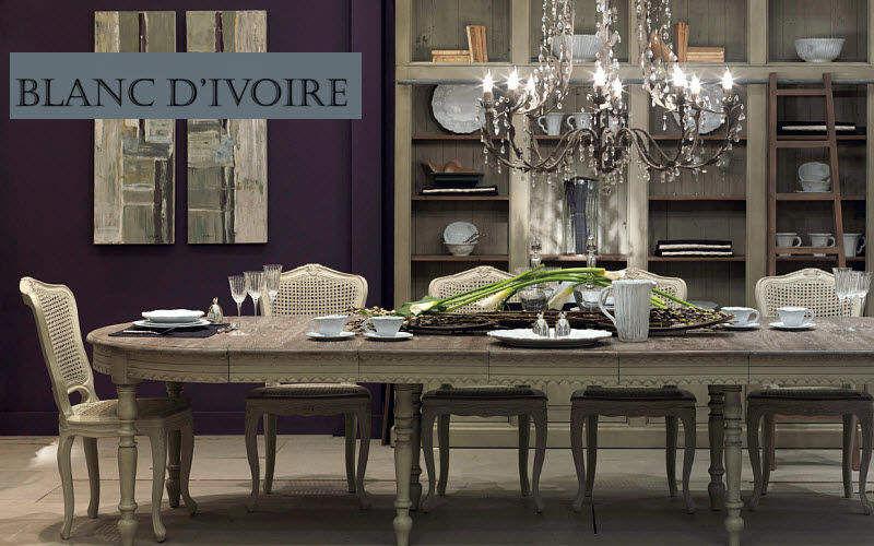 BLANC D'IVOIRE Table de repas ovale Tables de repas Tables & divers Salle à manger | Classique