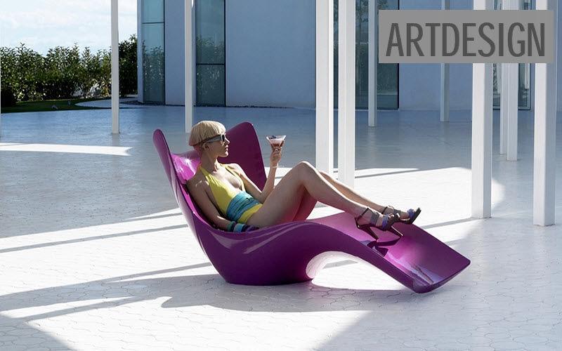 ARTDESIGN Chaise longue de jardin Chaises longues Jardin Mobilier  |