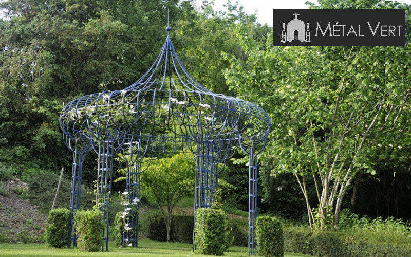 METAL VERT Kiosque Kiosques et gloriettes Jardin Abris Portails... Jardin-Piscine | Charme