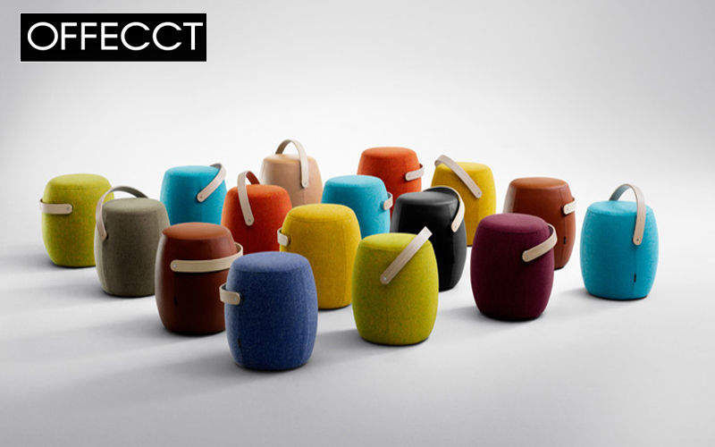 Salon bar style design contemporain decofinder for Pouf contemporain