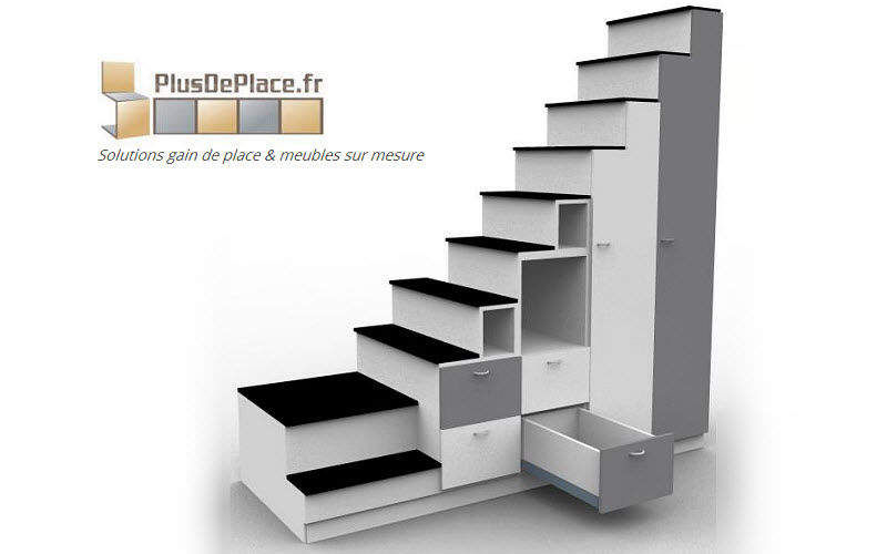 Meuble escalier etag res decofinder for Meuble asiatique moderne