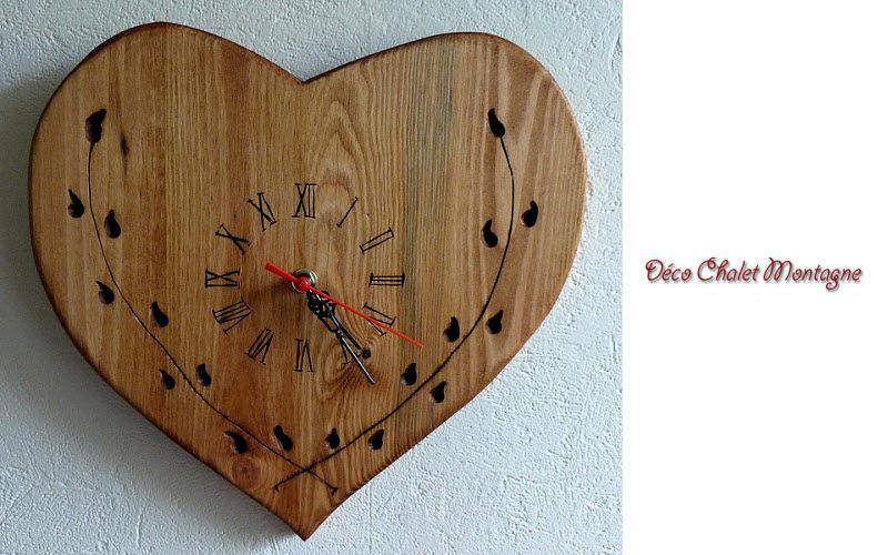 DECO CHALET MONTAGNE Horloge murale Horloges Pendules Réveils Objets décoratifs  |