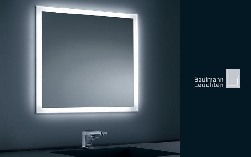 Miroir lumineux miroirs de salle de bains decofinder - Grand miroir salle de bain lumineux ...