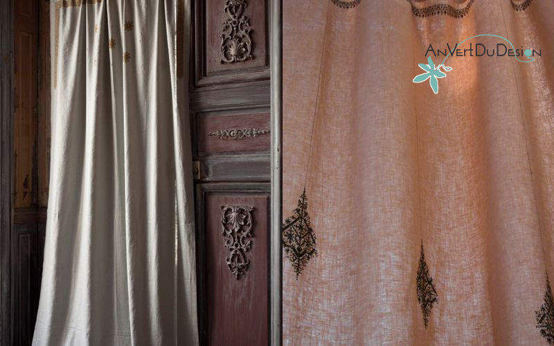 An Vert Du Design Rideaux à agrafes Rideaux Tissus Rideaux Passementerie  |