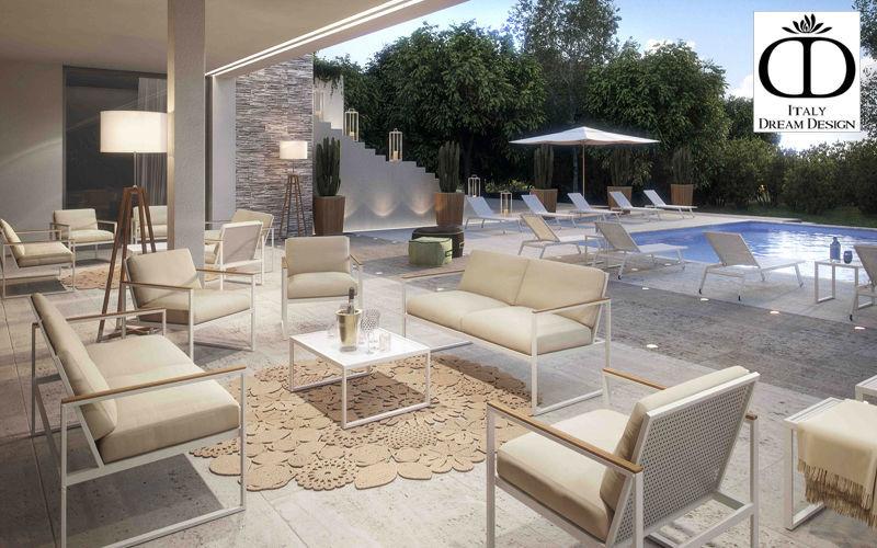 ITALY DREAM DESIGN Salon de jardin Salons complets Jardin Mobilier Terrasse | Contemporain
