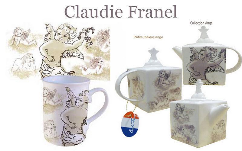PORCELAINE CLAUDIE FRANEL Service à thé Services de table Vaisselle  |