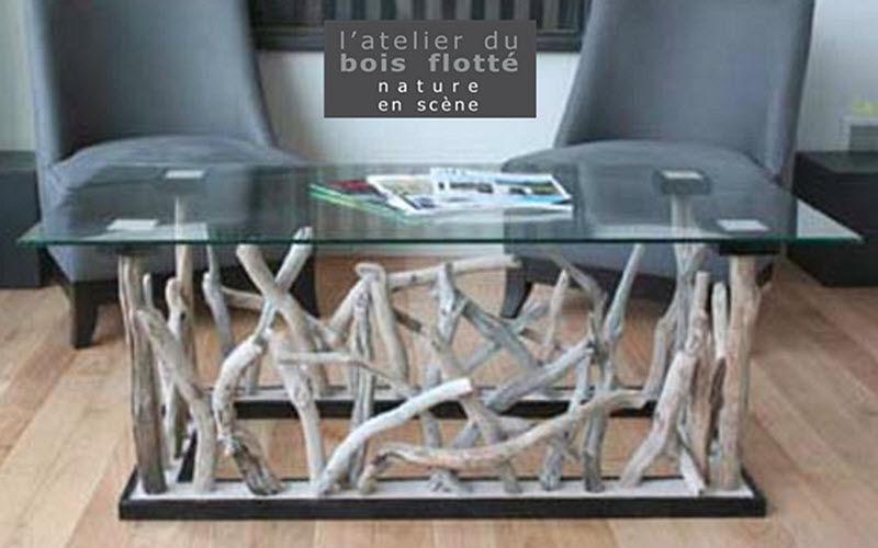 L ATELIER DU BOIS FLOTTE Table basse rectangulaire Tables basses Tables & divers  |