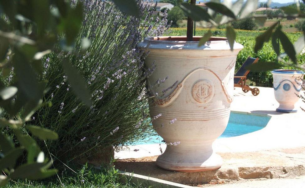 POTERIE TERRE FIGUIERE Vase d'Anduze Pots de jardin Jardin Bacs Pots  |