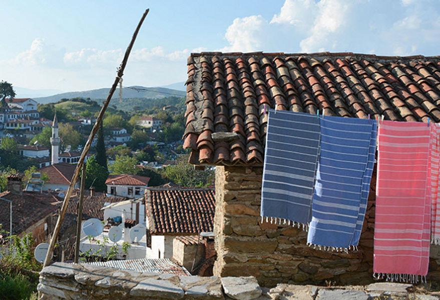 OTTOMANIA Fouta serviette de hammam Linge de toilette Linge de Maison  |