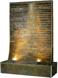 Cactose - mur d'eau césar en pierre de schiste 141x56x205cm - Mur D'eau