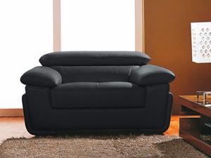 WHITE LABEL - fauteuil cuir sena - Fauteuil