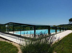 Abri-Integral - Abri de piscine haut coulissant ou télescopique