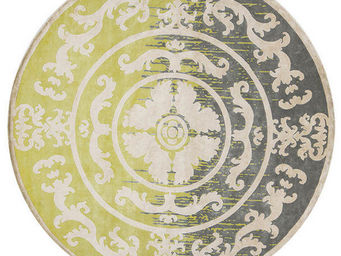 EDITION BOUGAINVILLE - pompadour rond lime - Tapis Contemporain