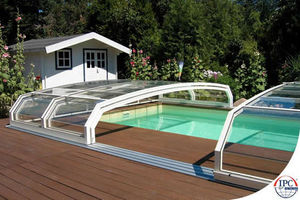 Abri de piscine bas amovible