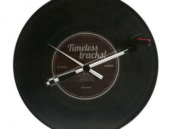 Karlsson Clocks - karlsson - horloge spinning record timeless tracks - Horloge Murale