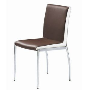 Smart Boutique Design - chaises marron et blanc simili cuir karmel lot de  - Chaise