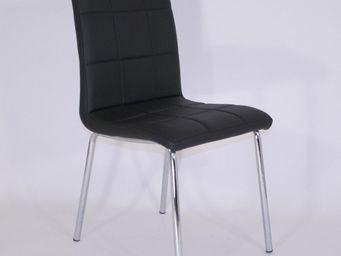 CLEAR SEAT - chaise simili cuir matelassée batz noire - Chaise