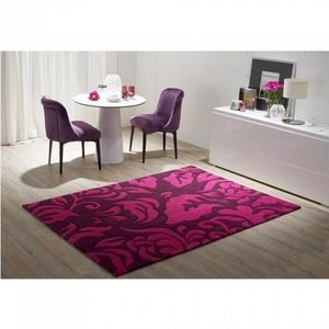 LUSOTUFO - tapis contemporain flocatto prune - Tapis Contemporain