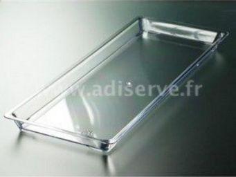 Adiserve - plateau rectangulaire cristal par 2 couleurs crist - Vaisselle Jetable