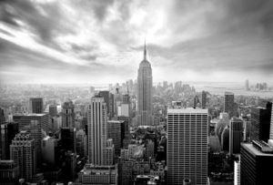 Yeda Design - papier peint skyline new york noir et blanc - Papier Peint
