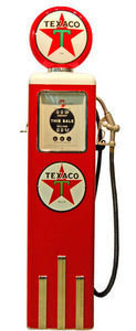 US Connection - pompe à essence texaco rouge/blanc - Statue