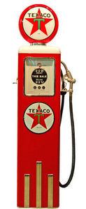 US Connection - pompe � essence texaco rouge/blanc - Statue