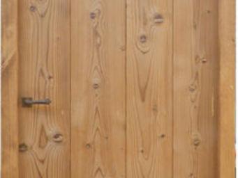 Portes Anciennes - mod�le � lames verticales en pin thermotrait� - Porte De Communication Pleine