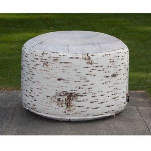 MEROWINGS - birch stump outdoor - Pouf
