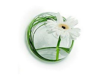 Tung Design - vase soliflore en verre mural pm - Vase � Fleurs