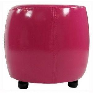 International Design - pouf rond pvc - couleur - fushia - Pouf