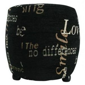 International Design - pouf love - couleur - noir - Pouf