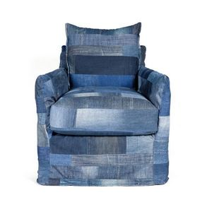 MARIE'S CORNER - patch denim franklin - Fauteuil