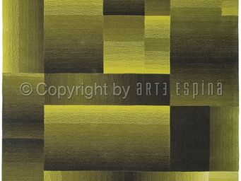 Arte Espina - tapis de salon digiworld vert 140x200 en acrylique - Tapis Contemporain