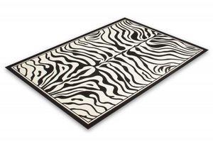 NAZAR - tapis contempo 190x280 black-white - Tapis Contemporain