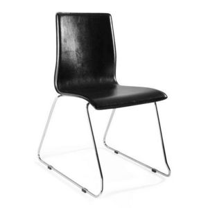 KOKOON DESIGN - chaises design cuir et métal keop - Chaise