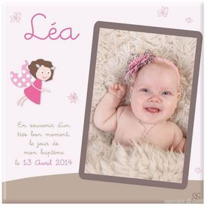 BABY SPHERE - toile photo baptême de princesse - Cadre Photo Enfant