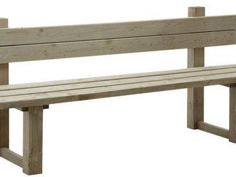 BARCLER - banc de jardin avec dossier en bois traité autocla - Banc De Jardin