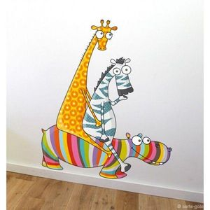 SERIE GOLO - sticker mural balade entre amis 80x105cm - Sticker Décor Adhésif Enfant