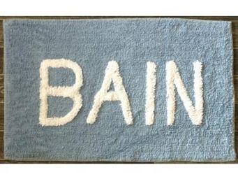 ILIAS - tapis salle de bain bain bleu ciel - Tapis De Bain