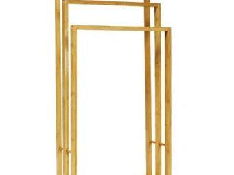 Fomax - porte-serviette 3 niveaux en bambou - Porte Serviettes