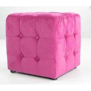 International Design - pouf velours carré - Pouf