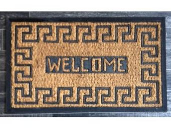 Fomax - paillasson traditionnel welcome motif maya - Paillasson