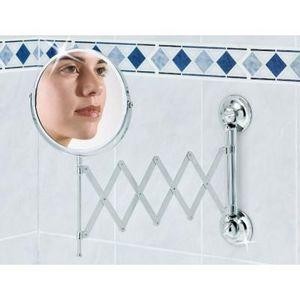 EVERLOC - miroir ventouse - Miroir Grossissant