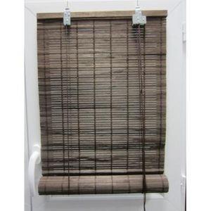 Luance - store enrouleur lattes bambou marron 60x180 cm - Store Enrouleur