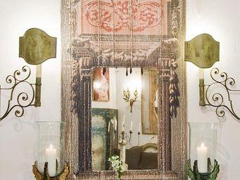 PROVENCE ET FILS - miroir trumeau teatro / miroir vieilli - décor pei - Applique