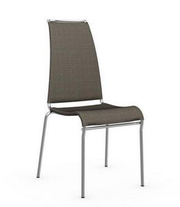 Calligaris - chaise italienne air high en tissu coloris sahara  - Chaise