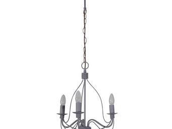 Corep - symphonie - lustre 3 lampes gris | suspension core - Lustre