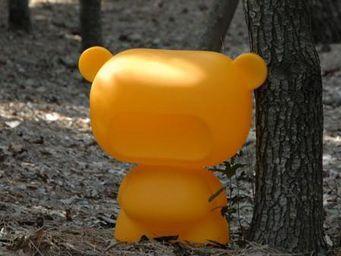 Slide - pure - lampe ourson orange h45cm | lampe à poser s - Lampe À Poser